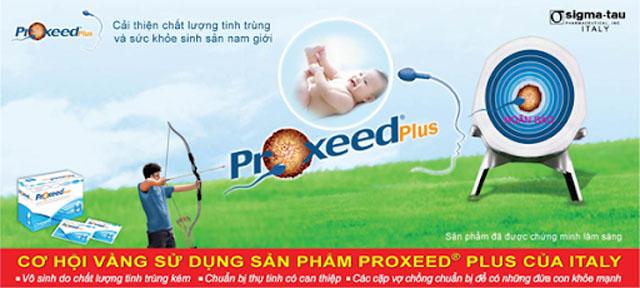 Proxeed Plus dùng chủ yếu cho các đối tượng vô sinh do chất lượng tinh trùng kém, chuẩn bị thụ tinh có can thiệp, các cặp vợ chồng chuẩn bị để cho ra đời những đứa con khỏe mạnh.