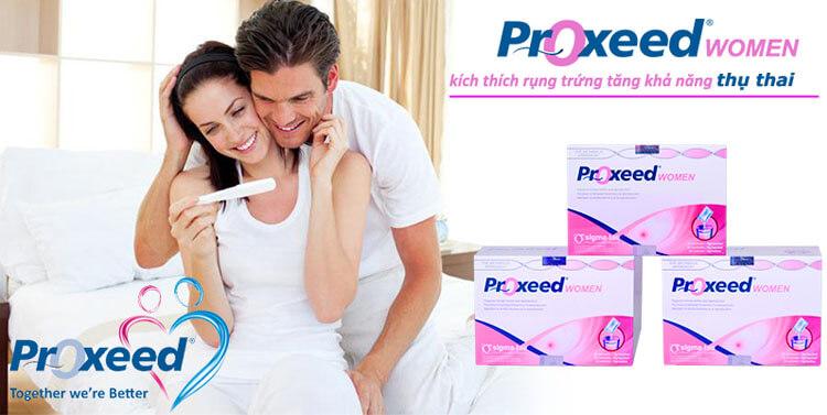 Proxeed Women hỗ trợ tăng khả năng thụ thai tự nhiên và tăng tỷ lệ thành công trong các biện pháp hỗ trợ sinh sản.