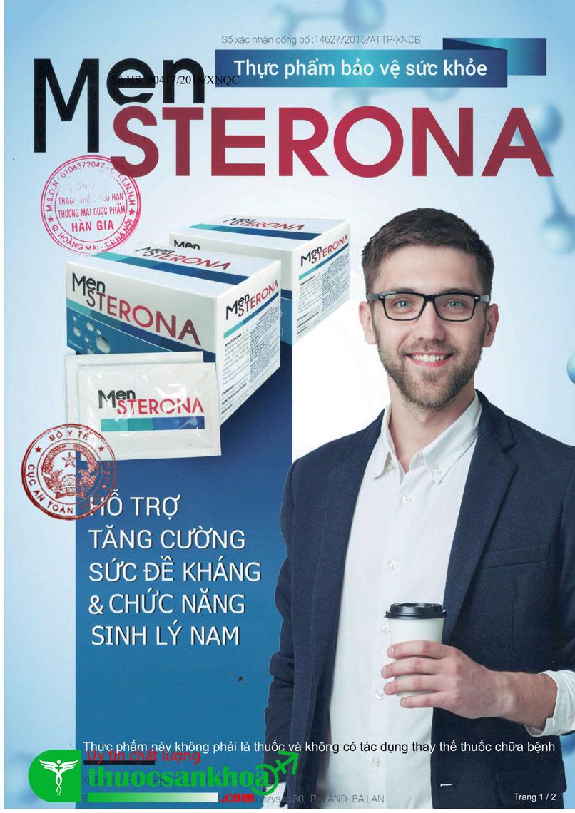 Giấy xác nhận nội dung quảng cáo sản phẩm Mensterona - Ảnh 1