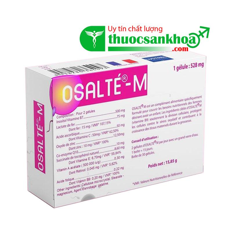 Osalte M hỗ trợ sinh sản nữ giới
