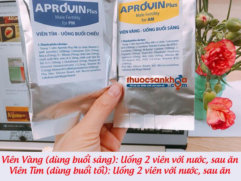 Cách sử dụng thuốc Aprovin Plus