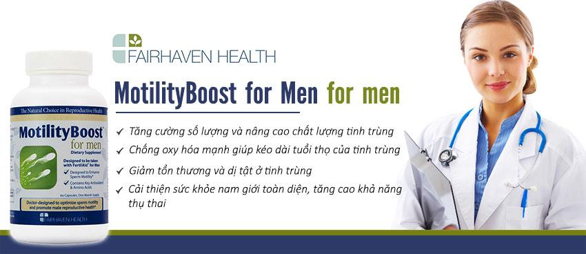 Công dụng MotilityBoost For Men