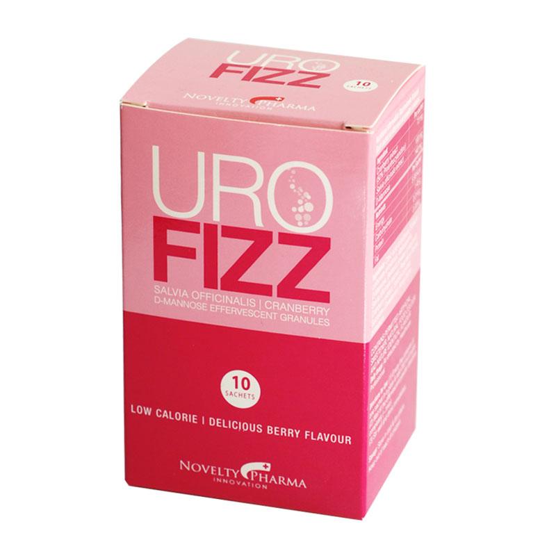 UroFIZZ lợi tiểu, giải độc, giảm các triệu chứng viêm nhiễm đường tiết niệu, hộp 10 gói