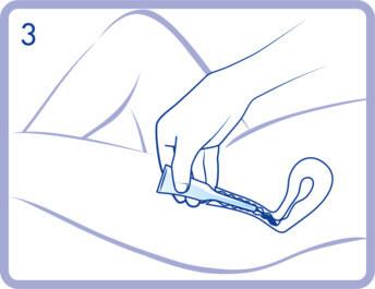 Nhấn nhiều lần vào thân ống giữa để loại bỏ chất bôi trơn (3).