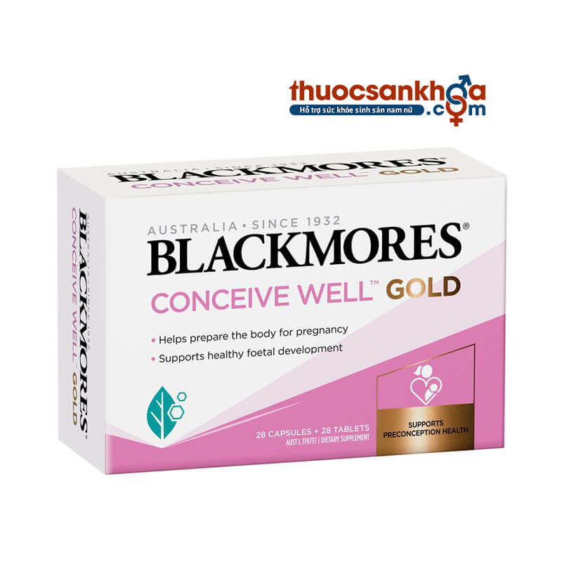 Blackmores® Conceive Well™ Gold - Hỗ Trợ Sinh Sản Nữ Giới