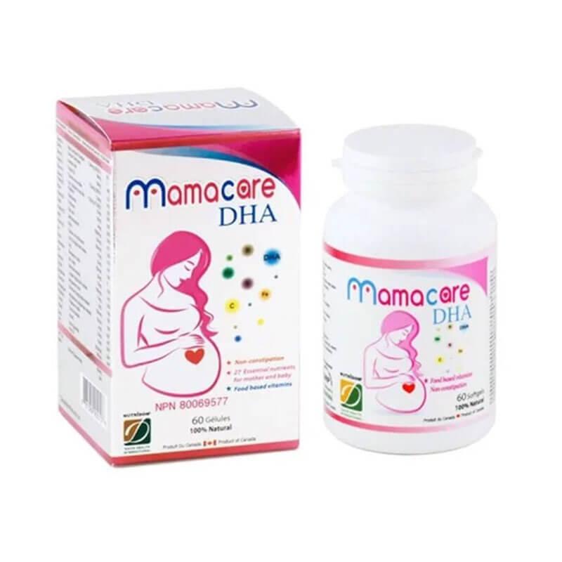 Mamacare DHA chính hãng Canada (60 viên) - Vitamin Cho Bà Bầu - Nutridom